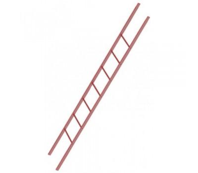 Различный цвет  Комплектующие к фасадным лестницам -  Секция лестницы BORGE 1,8 м, окрашенный