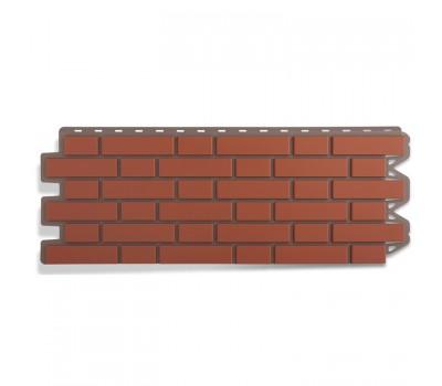 Различный цвет  Кирпич клинкерный -  Панель фасадная Альта Профиль Кирпич клинкерный красный 1220х440 мм