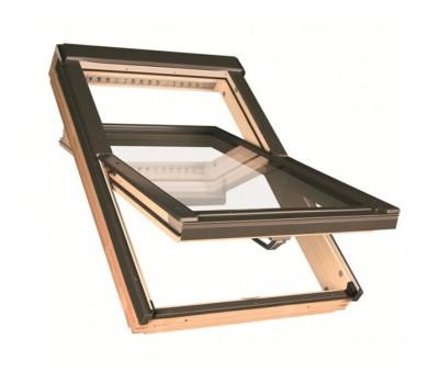 Различный цвет  Среднеповоротные деревянные окна -  Окно мансардное Fakro FTP-V L3/P2 profi триплекс 134х98