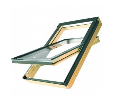 Различный цвет  Среднеповоротные деревянные окна -  Окно мансардное Fakro FTS-V U4 standart 55х78