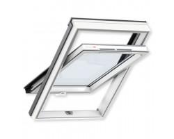 Мансардное окно ПВХ VELUX GLP 0073 BIS (ручка снизу) (для высоких пристенков)