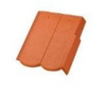 Различный цвет  BRAAS Ревива -  Боковая цементно-песчаная черепица универсальная BRAAS Ревива левая