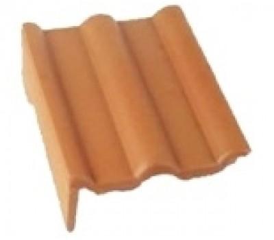 Различный цвет  BRAAS Адриа -  Боковая цементно-песчаная черепица универсальная BRAAS Адриа левая