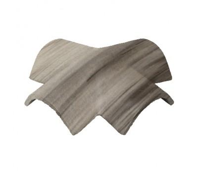 Различный цвет  Доборные элементы Sea Wave -  Вальмовая черепица (Х-образная) 35 градусов Baltic Tile Sea Wave