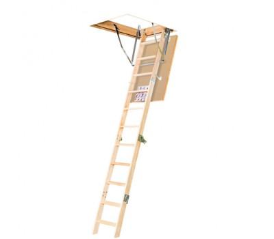 Различный цвет  Деревянные чердачные лестницы Fakro   Факро -  Чердачная деревянная лестница Fakro LWS Plus 70*94*280