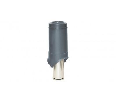Различный цвет  Вентиляционные выходы Krovent -  Выход вентиляции Krovent Pipe-VT 125 серый