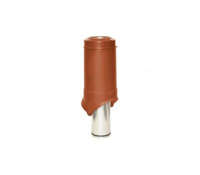 Различный цвет  Вентиляционные выходы Krovent -  Выход вентиляции Krovent Pipe-VT 125 кирпичный